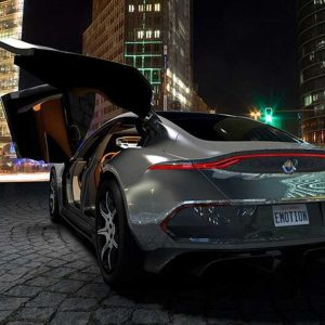Henry Fisker EMotion with 400 Miles